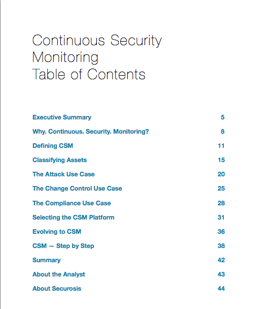 Continuous Security Monitoring
