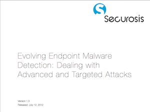Evolving Endpoint Malware Detection
