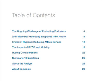 The 2014 ESBG Table of Contents