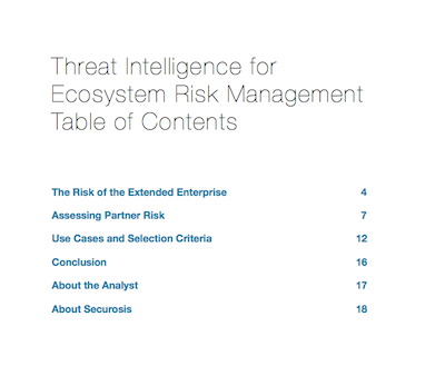 Threat Intelligence for Ecosystem Risk Management ToC