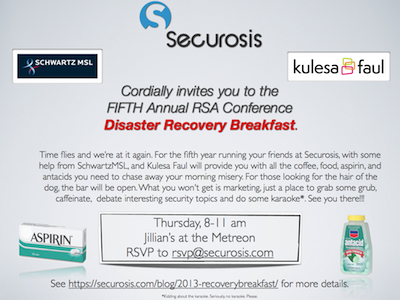 Disaster Recovery Breakfast