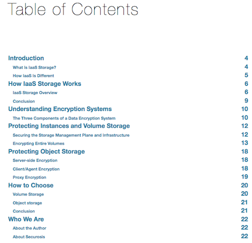 Defending Cloud Data with Infrastructure Encryption: ToC