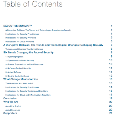 Executive Overview ToC