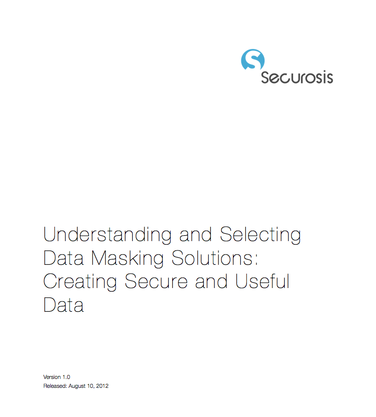 Understanding Data Masking